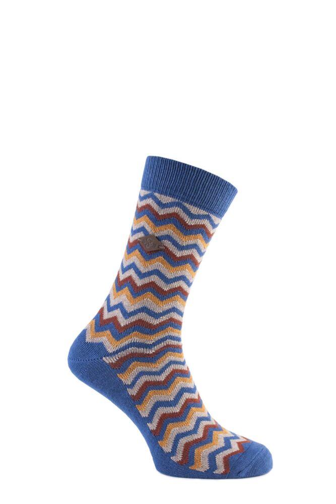 Mens 1 Pair Farah 1920 Zig Zag Cotton Socks 50% OFF