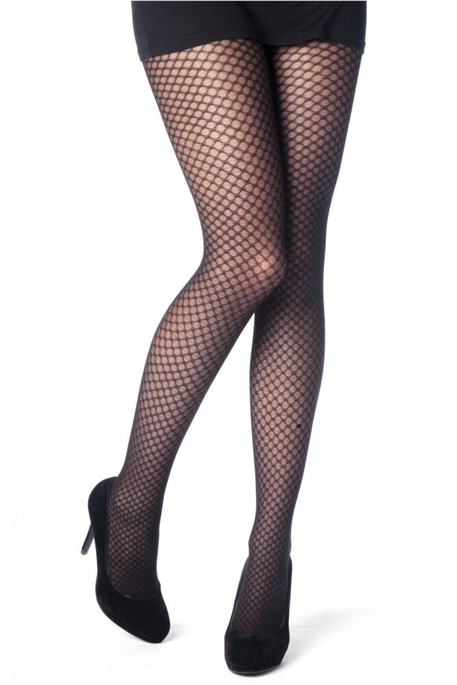 Ladies 1 Pair Elle Honeycomb Opaque Tights