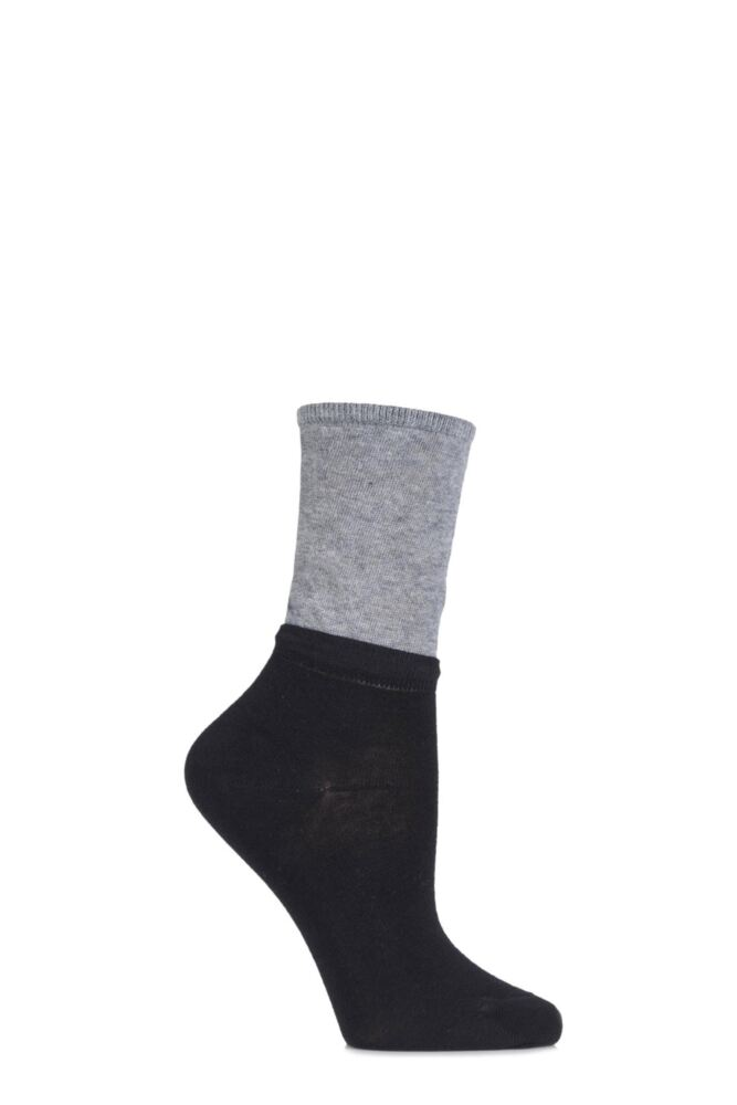 Ladies 1 Pair Trasparenze Gesso Slouch Top Cotton Socks 25% OFF