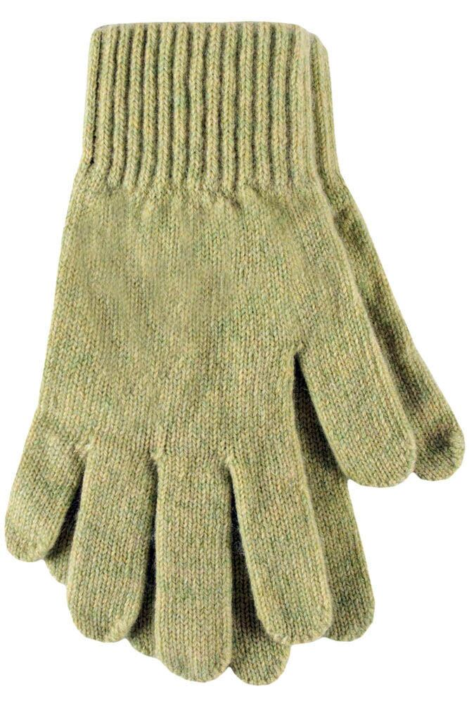Ladies 1 Pair SockShop of London Made In Scotland 100% Cashmere Plain Gloves In Green