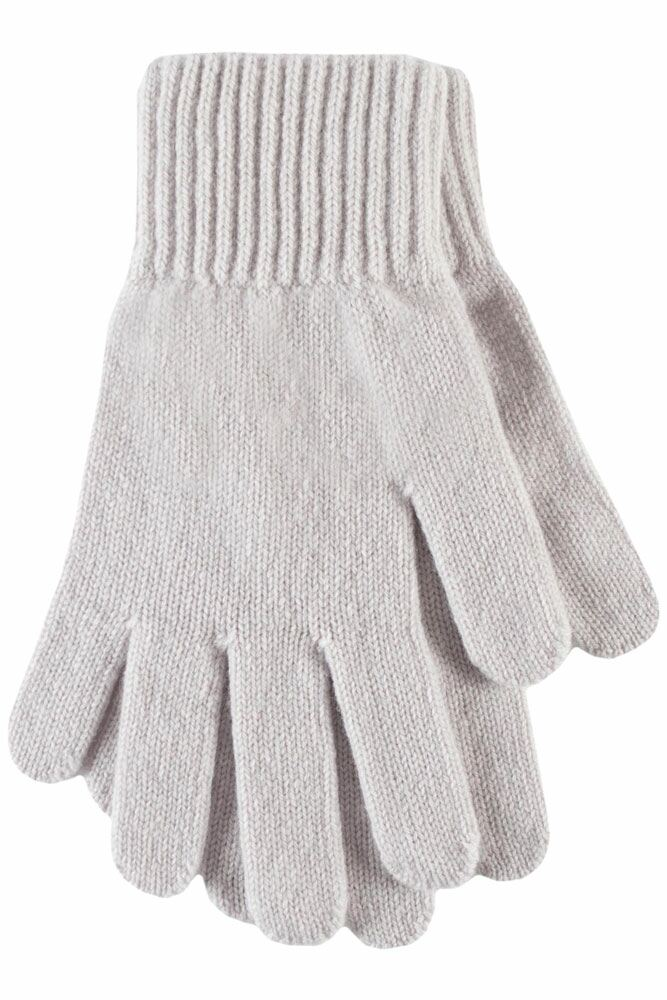 Ladies 1 Pair Great & British Knitwear Made In Scotland 100% Cashmere Plain Gloves In Grey