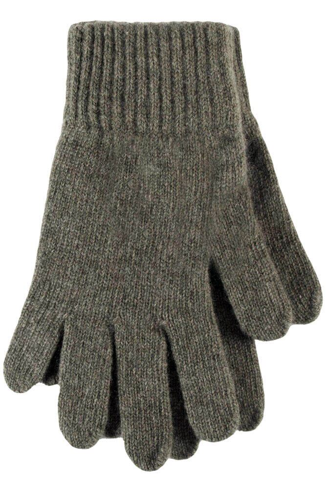 Ladies 1 Pair Great & British Knitwear Made In Scotland 100% Cashmere Plain Gloves In Green