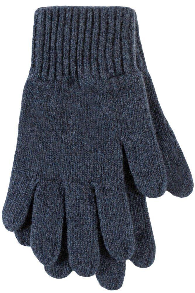 Ladies 1 Pair Great & British Knitwear Made In Scotland 100% Cashmere Plain Gloves In Blue