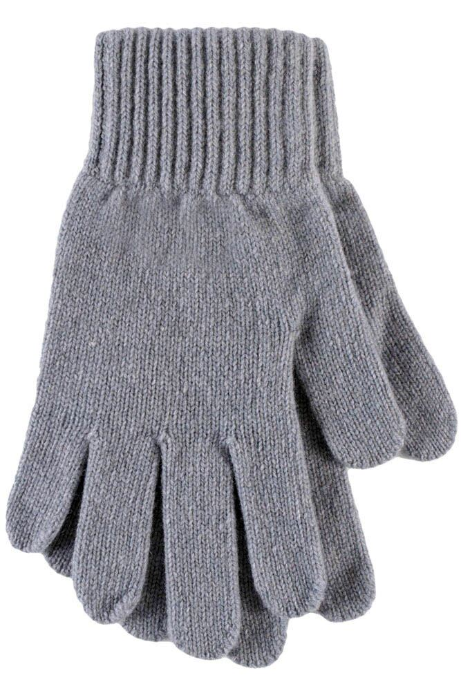 Ladies 1 Pair SockShop of London Made In Scotland 100% Cashmere Plain Gloves In Blue