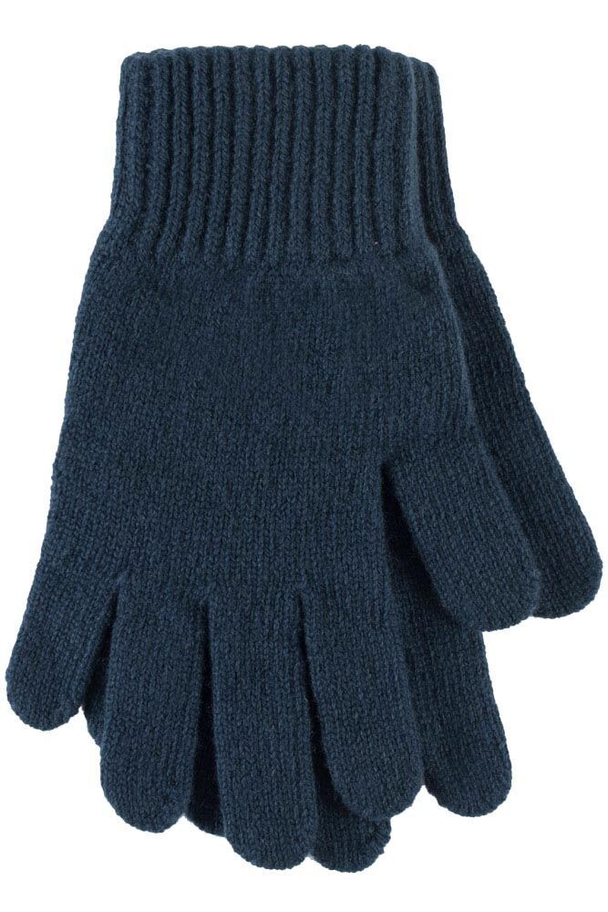 Ladies 1 Pair Great & British Knitwear Made In Scotland 100% Cashmere Plain Gloves In Blue
