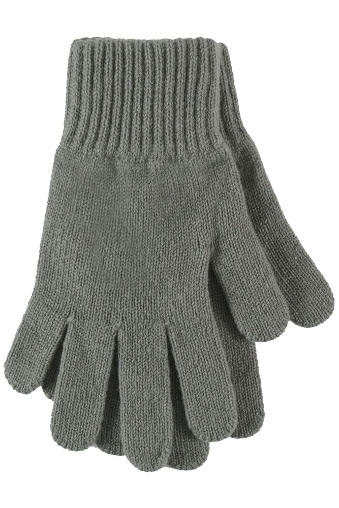 Ladies 1 Pair Great & British Knitwear Made In Scotland 100% Cashmere Plain Gloves In Grey