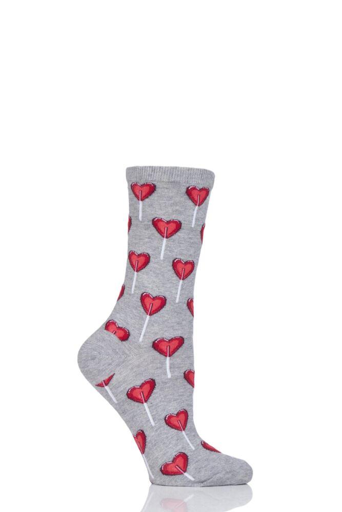 Ladies 1 Pair HotSox Heart Lollipop Cotton Socks