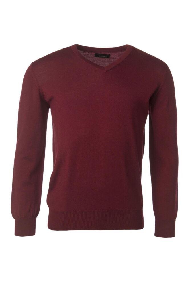 Mens Great & British Knitwear 100% Merino Plain V Neck Jumper