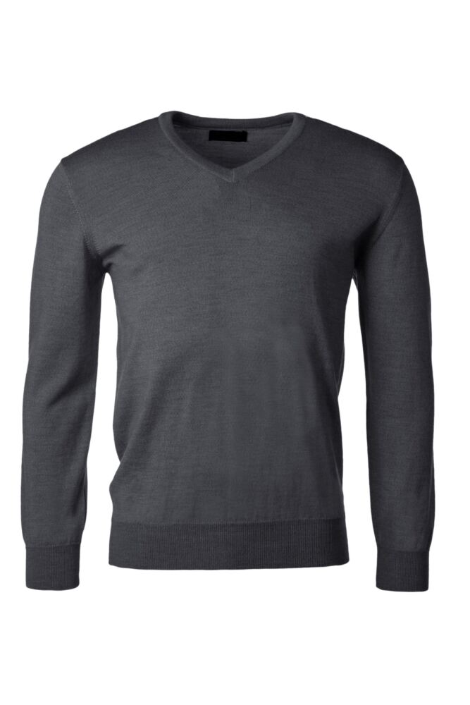 Mens Great & British Knitwear 100% Merino Plain V Neck Jumper