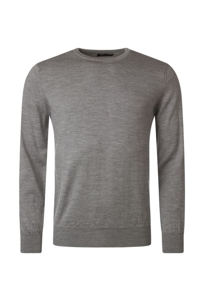 Mens Great & British Knitwear 100% Merino Plain Crew Neck Jumper