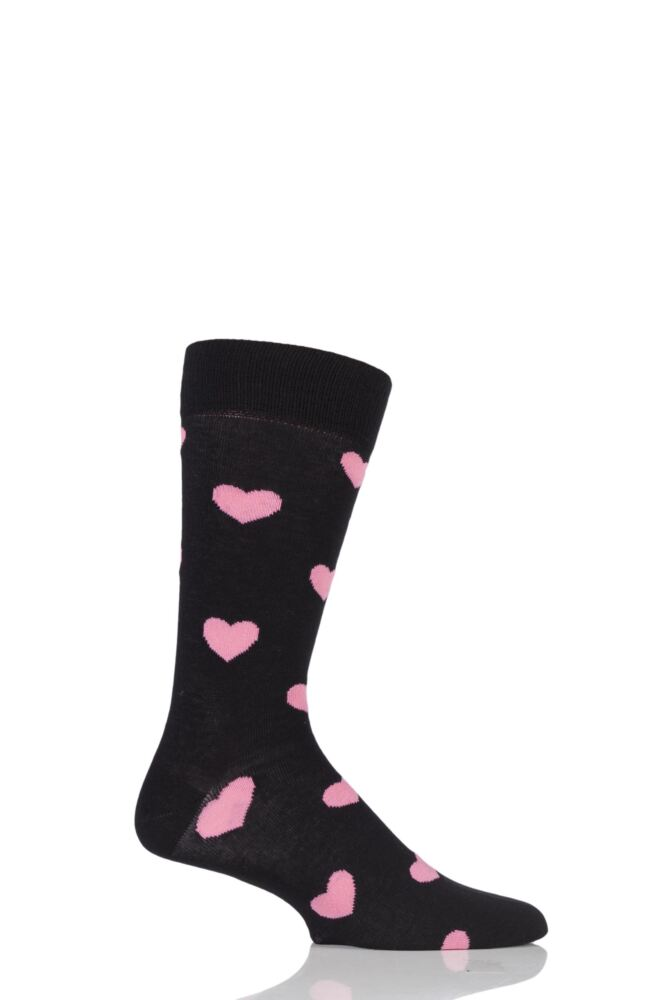 Mens and Ladies 1 Pair Happy Socks Heart Combed Cotton Socks