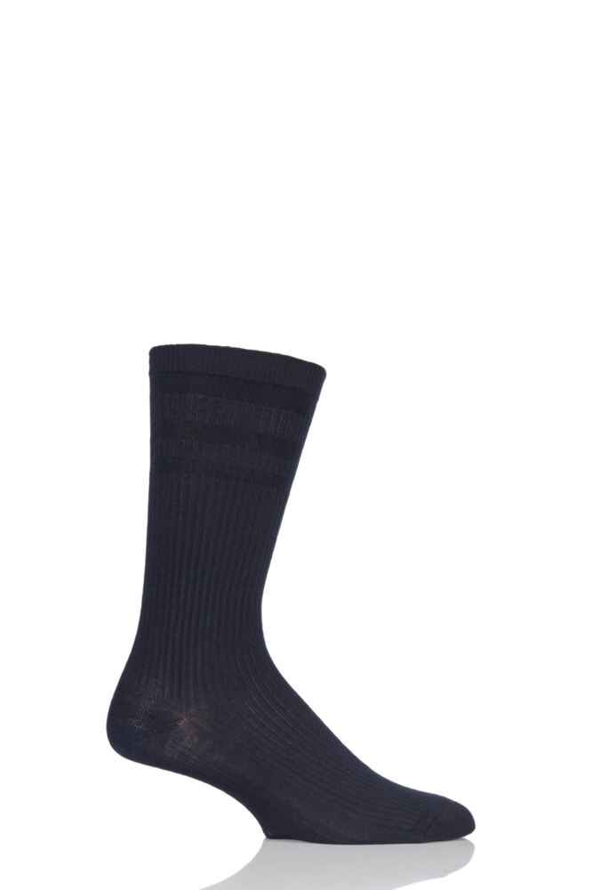 Mens 1 Pair HJ Hall Extra Wide Bamboo Softop Socks