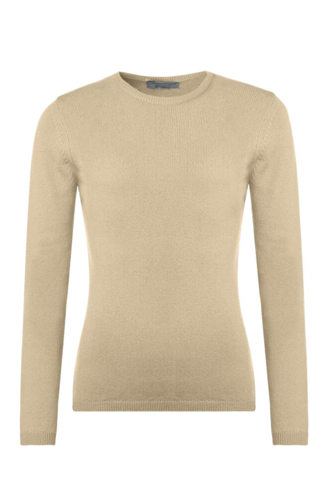 Ladies Great & British Knitwear 100% Lambswool Round Neck Jumper with Elbow Patch Detail