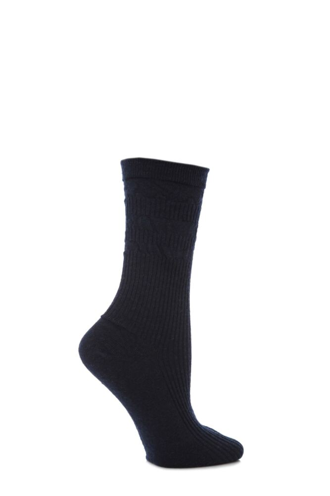 Ladies 1 Pair HJ Hall Original Wool Softop Socks