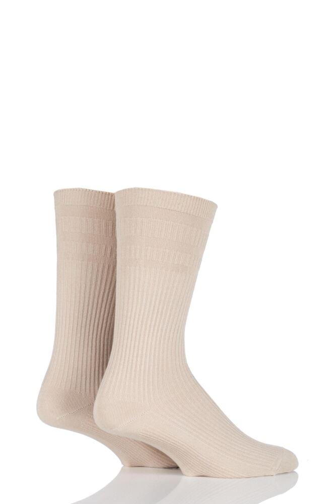 Mens 2 Pair HJ Hall Bamboo Softop Socks