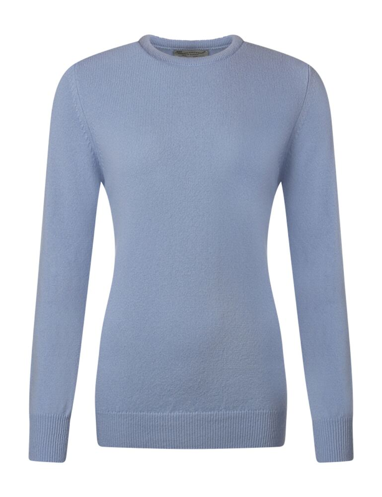 Ladies Great & British Knitwear 100% Lambswool Plain Round Neck Jumper