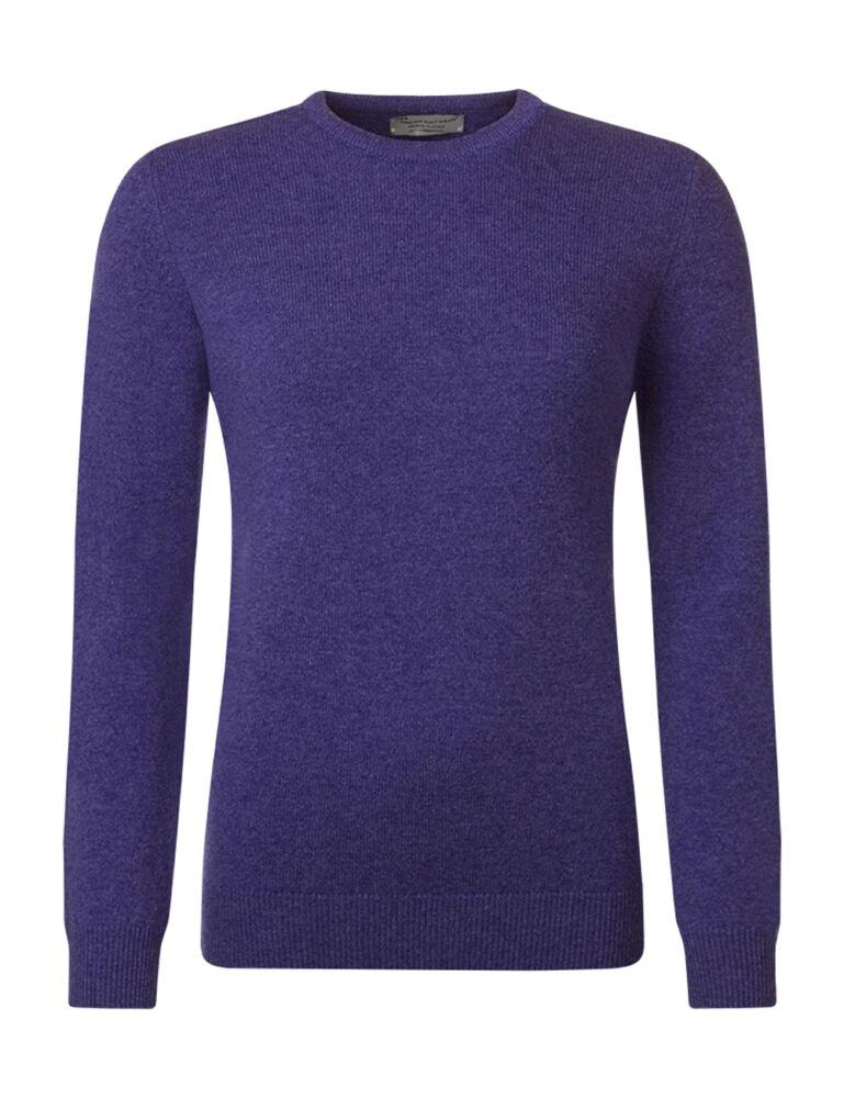 Ladies Great & British Knitwear 100% Lambswool Plain Round Neck Jumper
