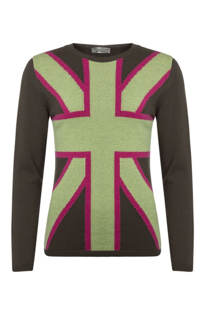 Ladies Great & British Knitwear 100% Lambswool Union Jack Jumper