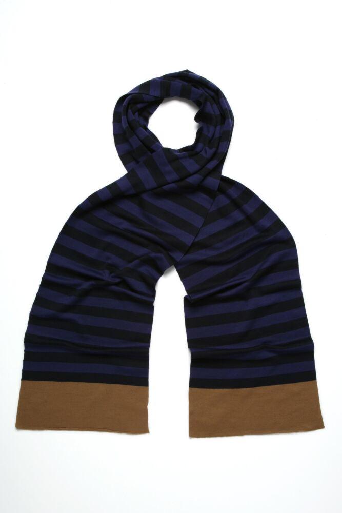 Ladies John Smedley Eunice Thin Stripe 100% Merino Wool Scarf  50% OFF