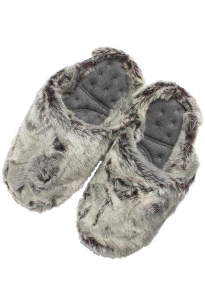 Ladies 1 Pair Isotoner Pillowstep Faux Fur Mule Slippers In Grey 33% Off