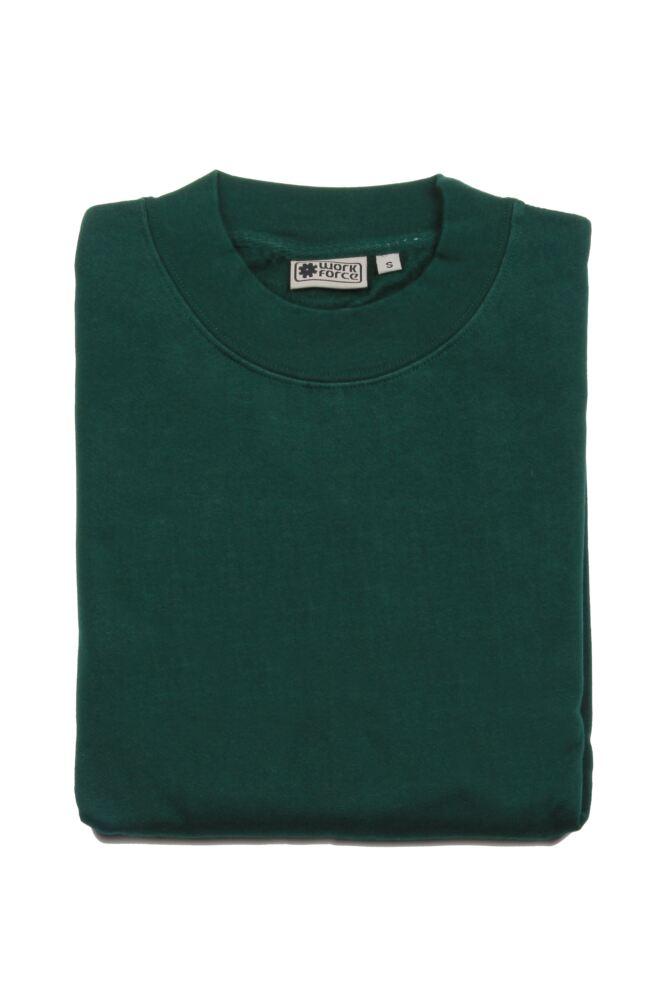 Mens Workforce Sweatshirt In Bottle Green