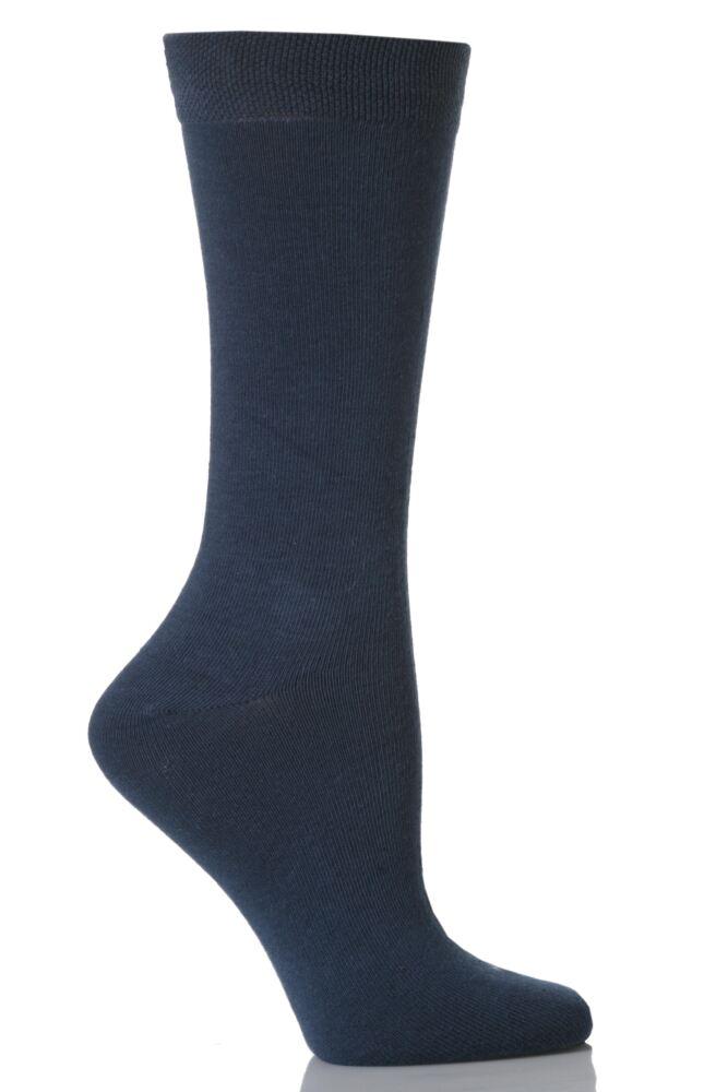 Kids 1 Pair SockShop Colours Outstanding Quality and Value Plain Denim Cotton Socks