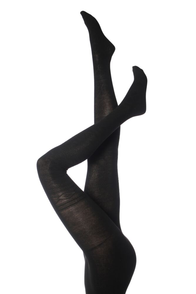 Ladies 1 Pair Elle Nordic Diamond Patterned Tights