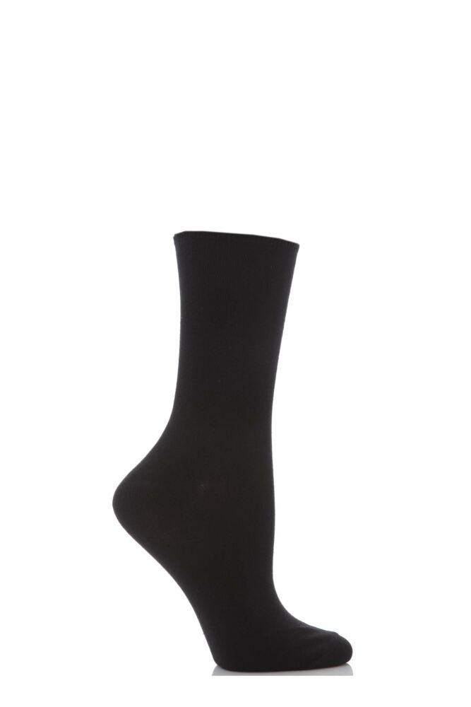 Ladies 1 Pair Levante Comfort Top Cotton Socks