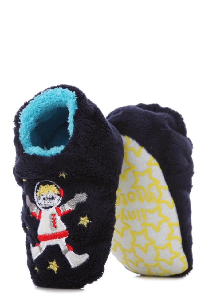 Boys 1 Pair Totes Tots Spaceman Slippers with Grip 75% OFF