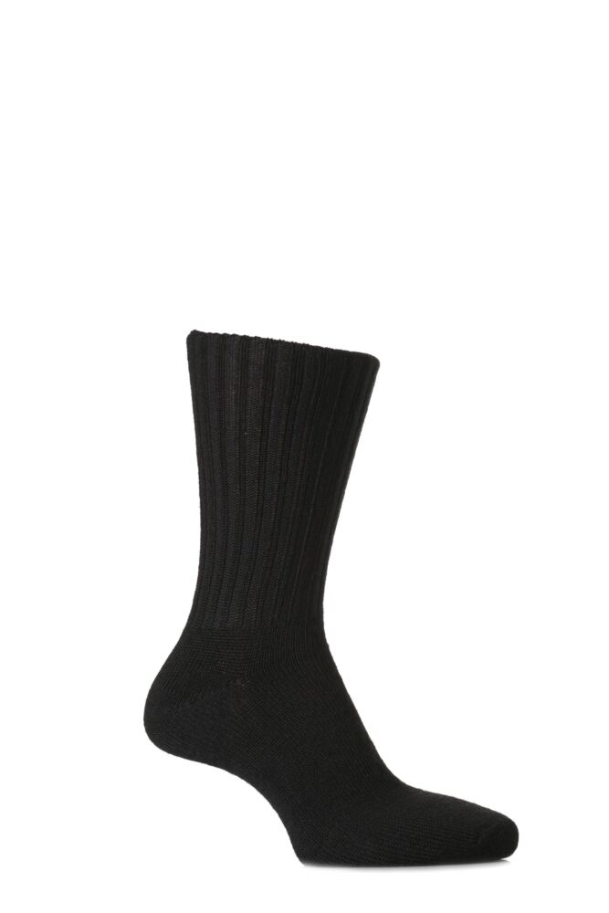 Mens 2 Pair J. Alex Swift Wool Socks With Comfort Cuff