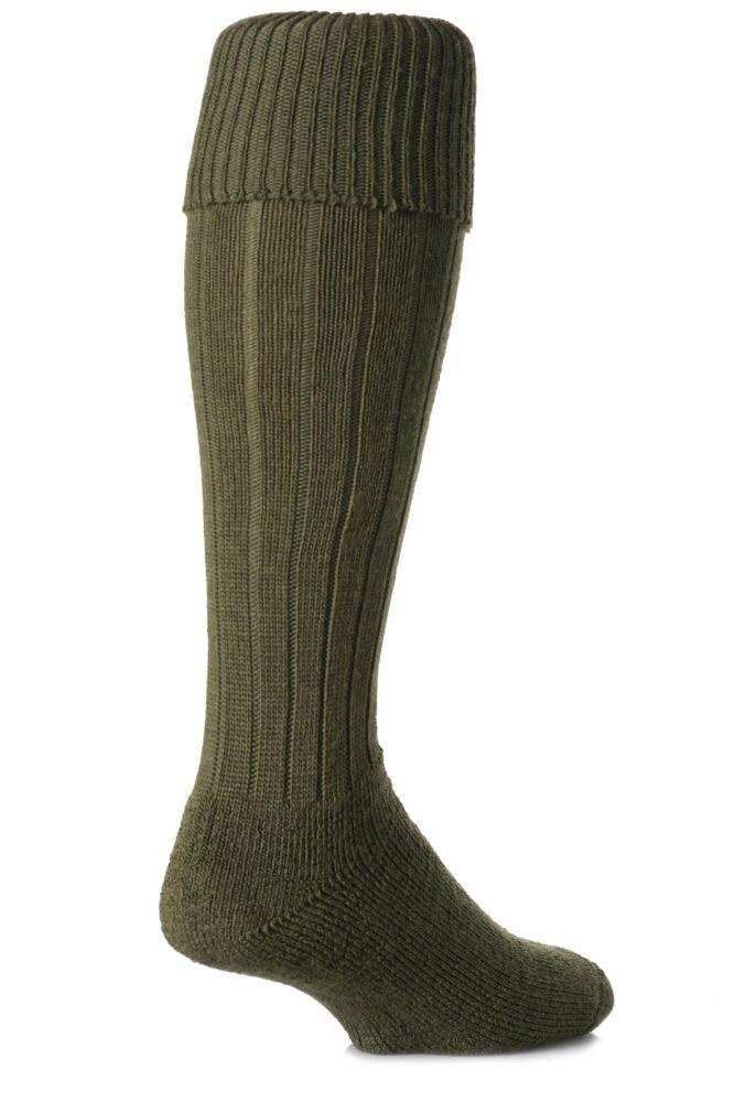 Mens 1 Pair J. Alex Swift Knee Length Wool Rib Walking Socks