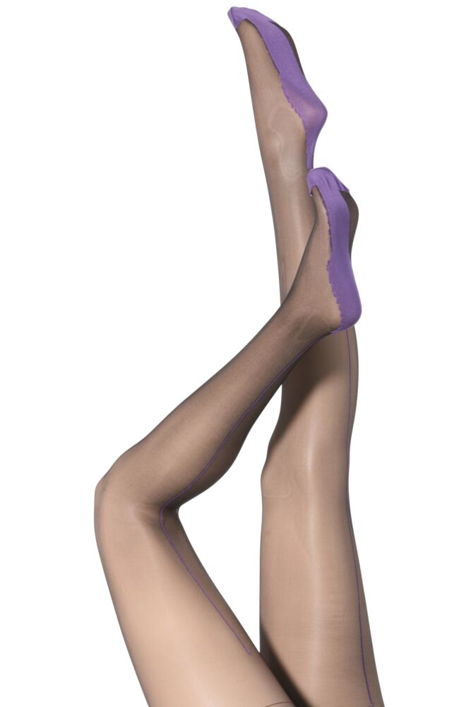 Ladies 1 Pair Jonathan Aston Lycra Seam And Heel Tights 50% OFF