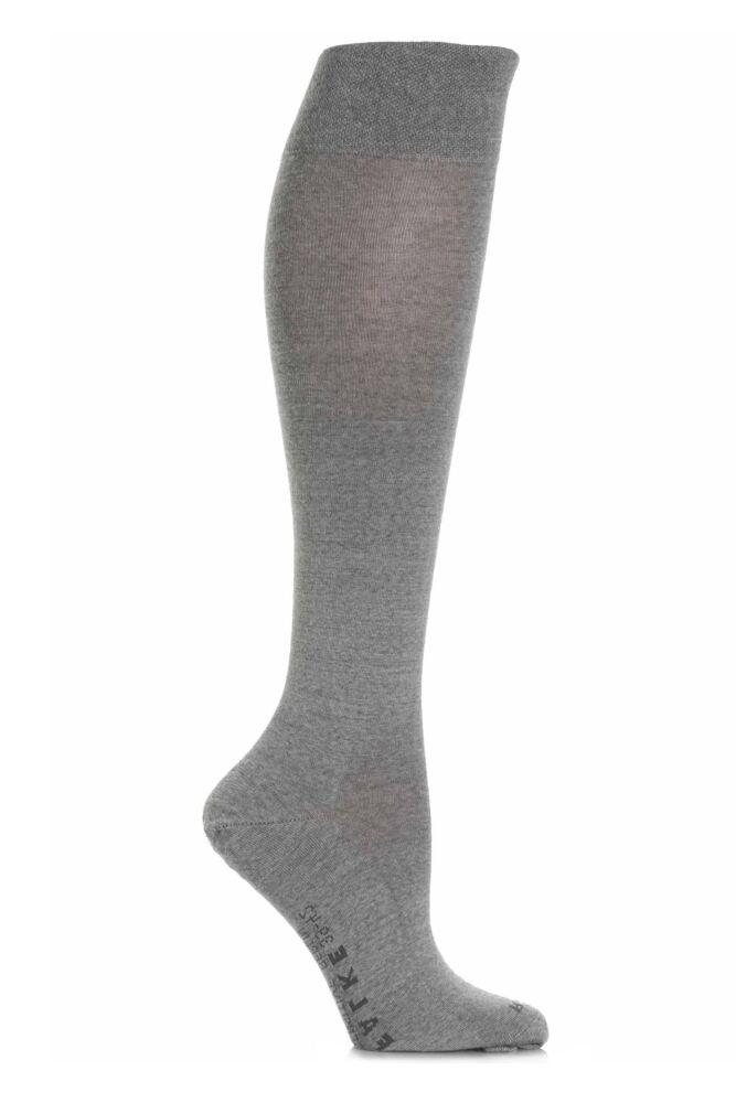 Ladies 1 Pair Falke Sensitive Berlin Merino Wool Left And Right Knee High Socks