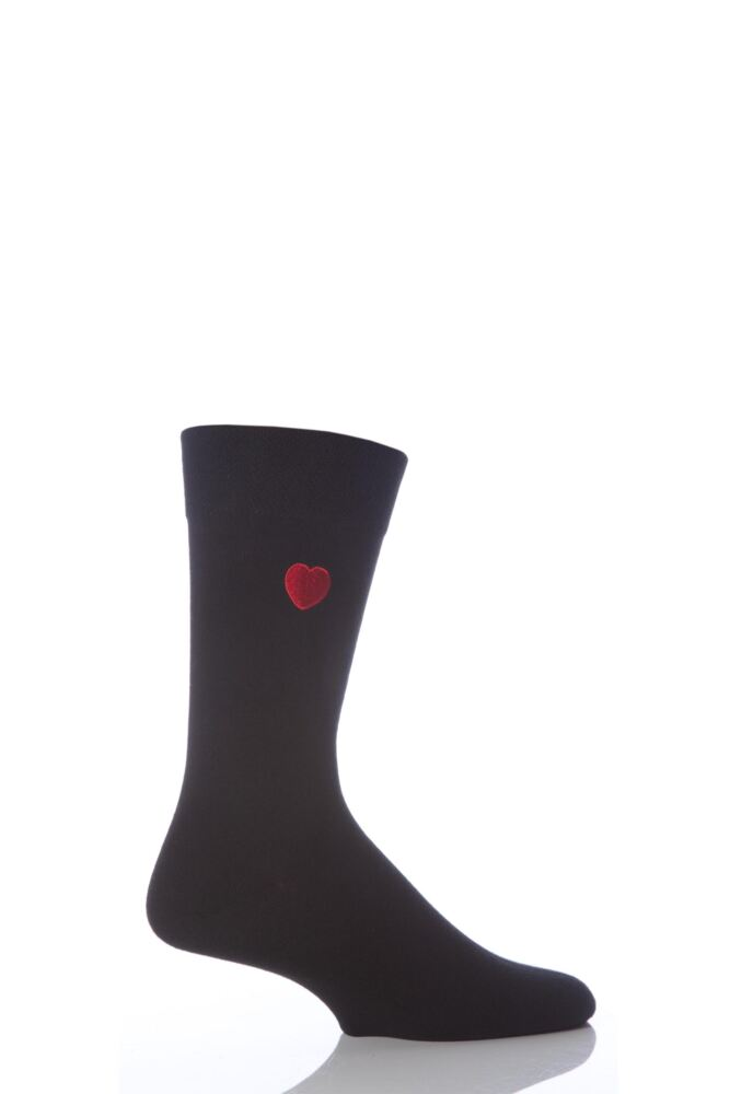 Mens 1 Pair SockShop Valentines Love Heart Socks