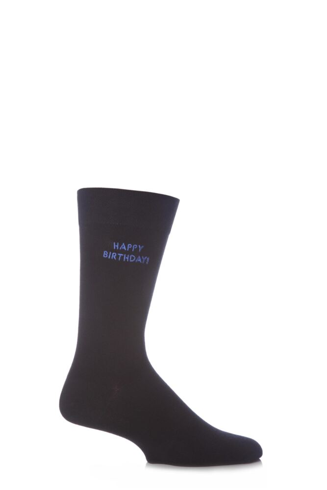 Mens 1 Pair SockShop Individual Celebrations Embroidered Socks - 10 To Choose From