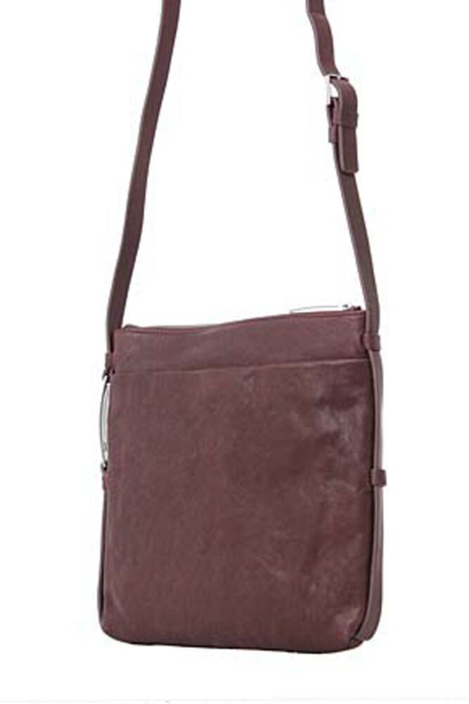Ladies Calvin Klein Textured Leather Flat Crossover Bag 60% OFF