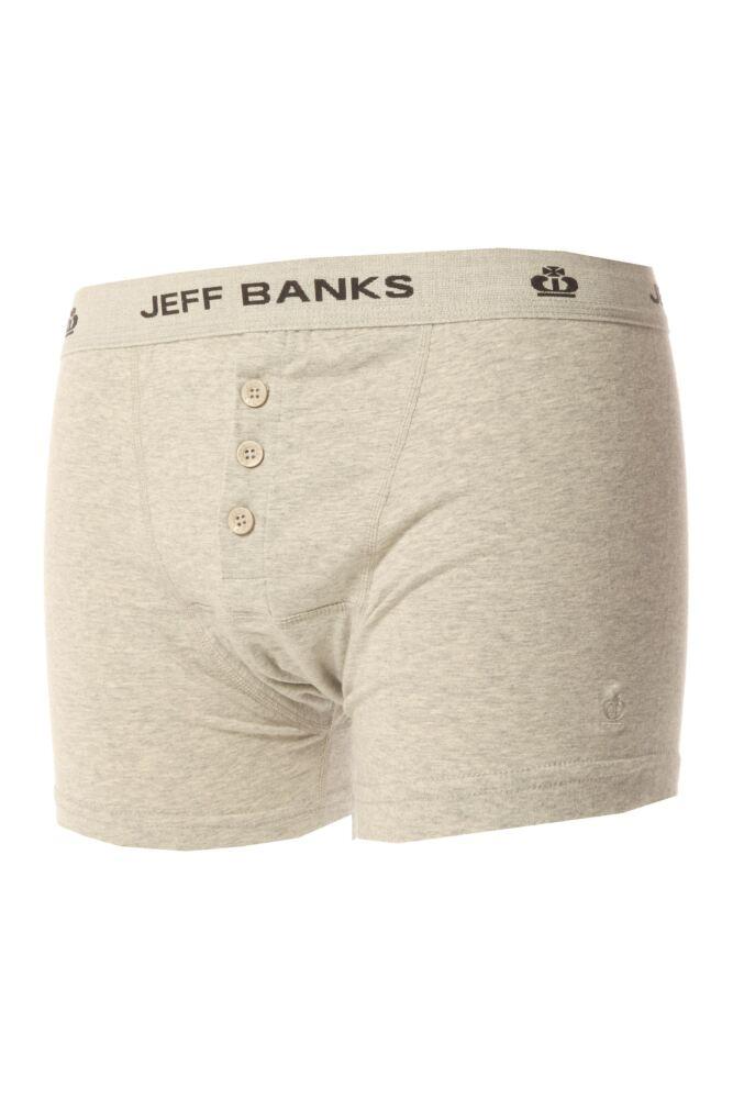 Mens Jeff Banks Leeds Buttoned* Cotton Boxer Shorts