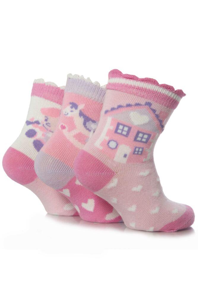 Girls 3 Pair Drew Brady Play Time Baby Socks