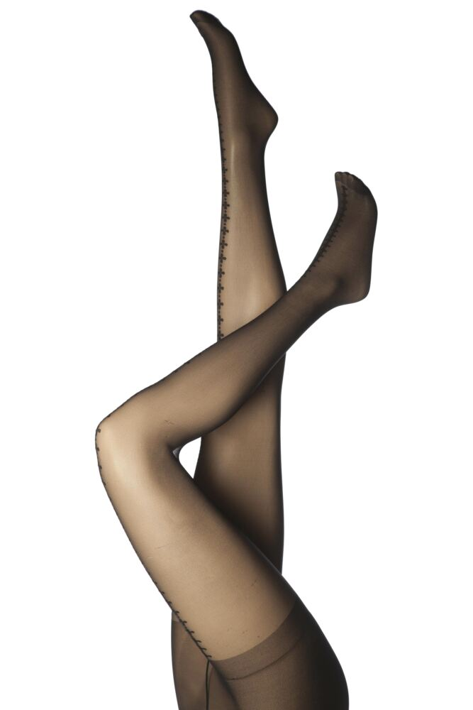Ladies 1 Pair Pretty Polly Clover Backseam Tights