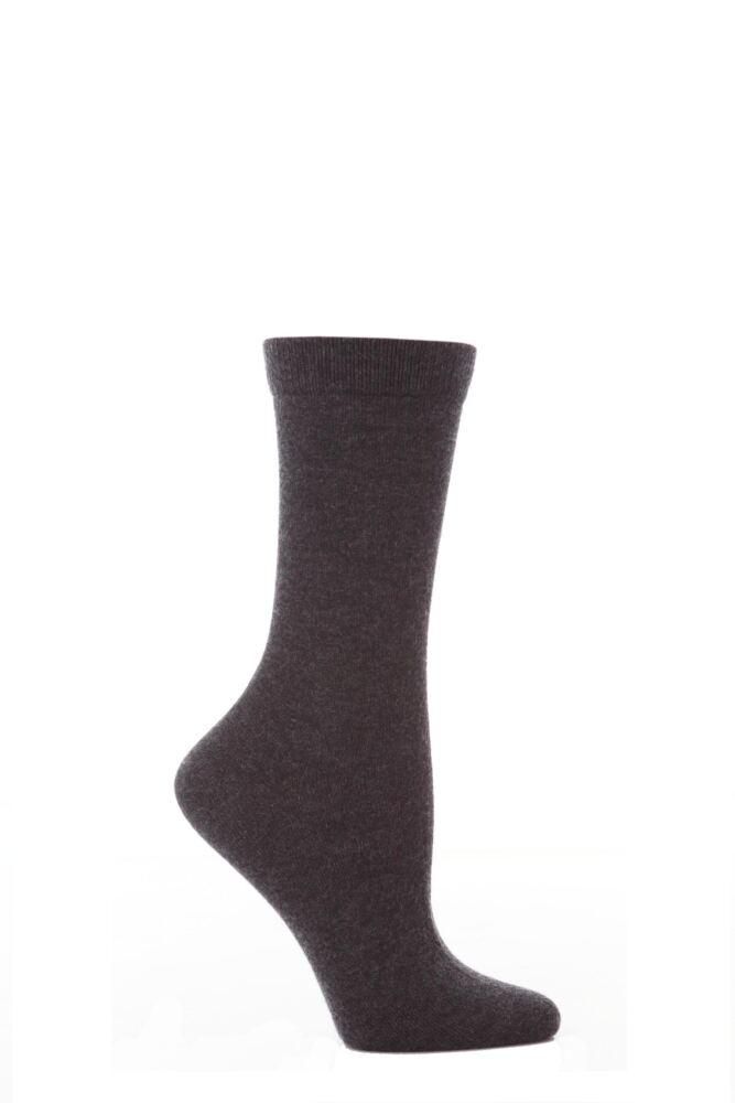 Ladies 1 Pair Elle Wool and Viscose Plain Socks