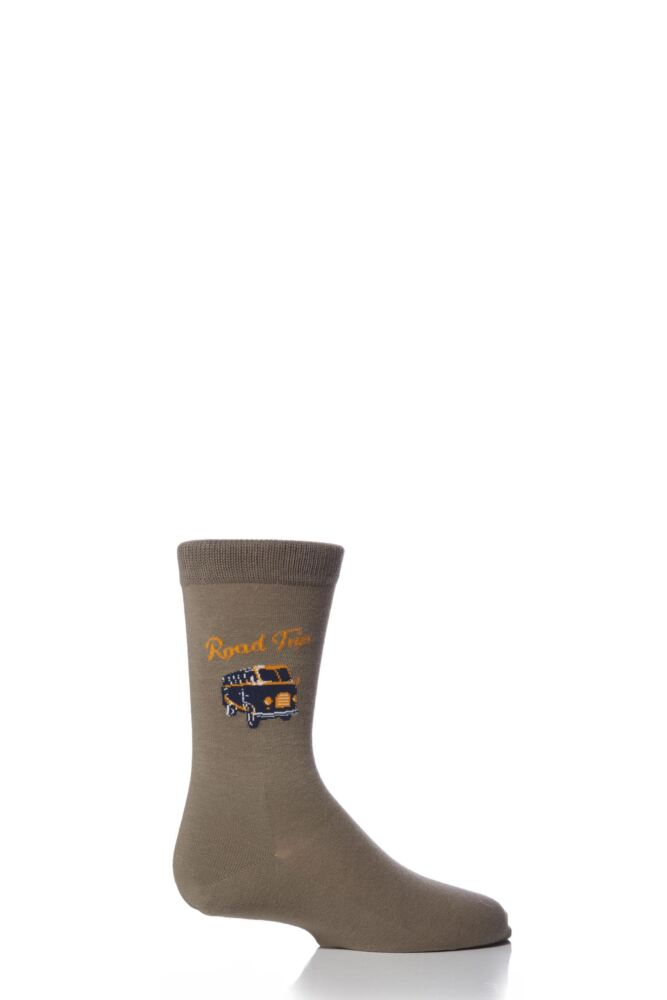Boys 1 Pair Falke Campervan Road Trip Socks 33% OFF