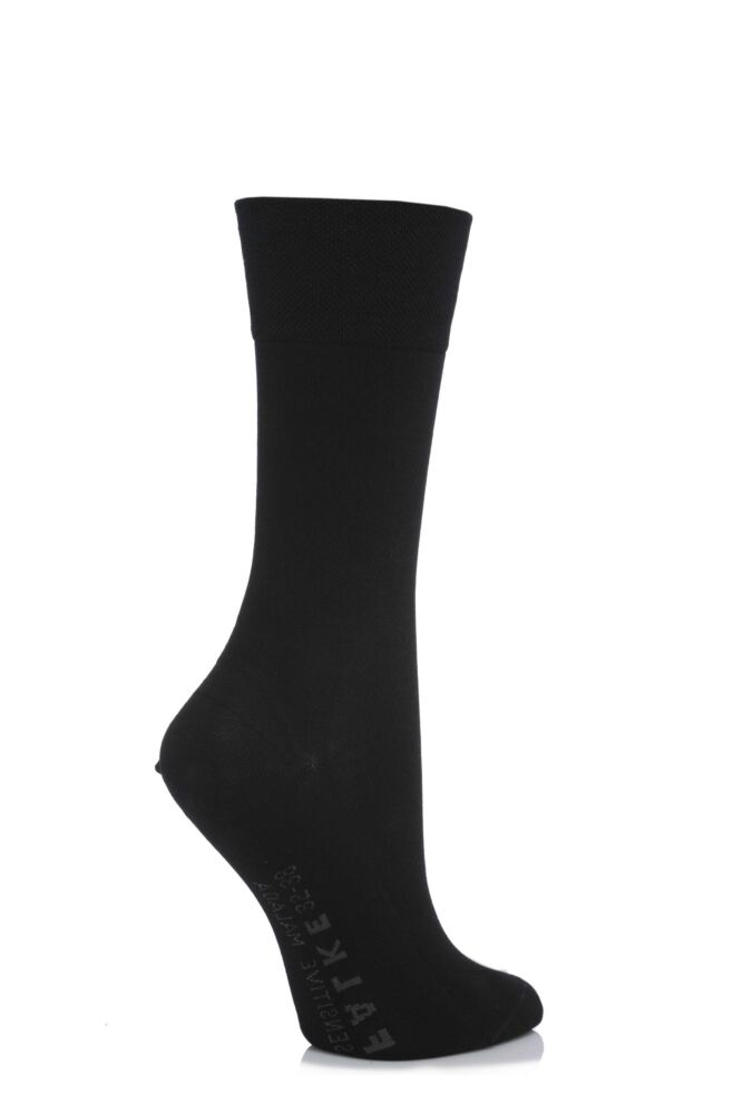 Ladies 1 Pair Falke Sensitive Malaga Left And Right Mercerised Cotton Socks