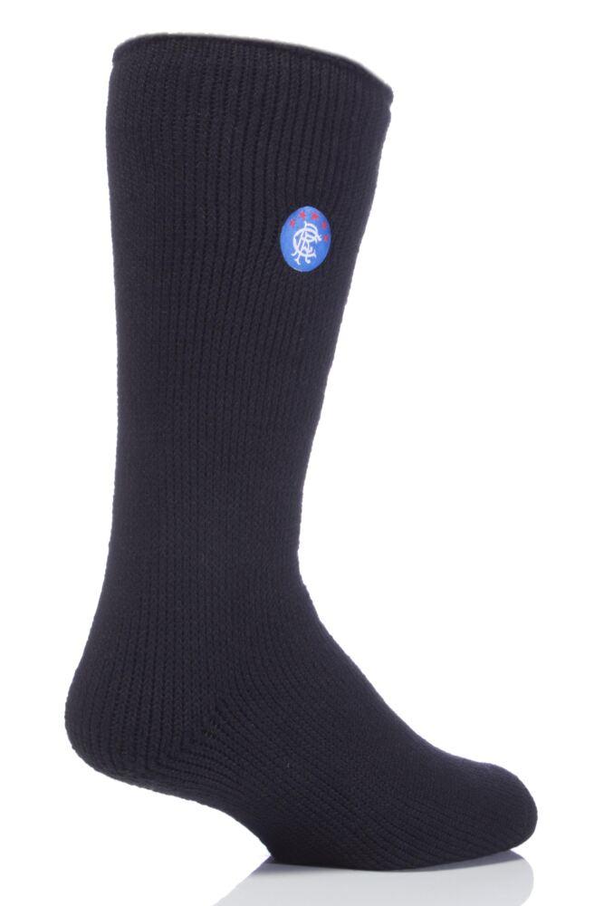 Mens 1 Pair SockShop Heat Holders Socks For Rangers Football Club Fans
