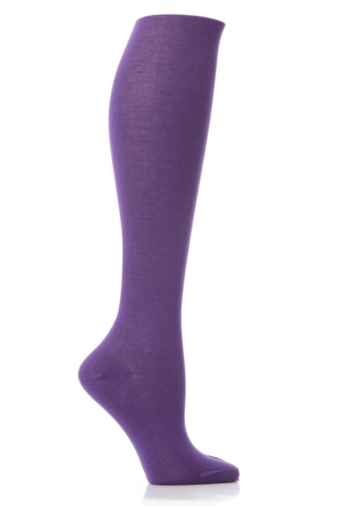 Ladies 1 Pair Elle Pearl Cotton Knee Highs