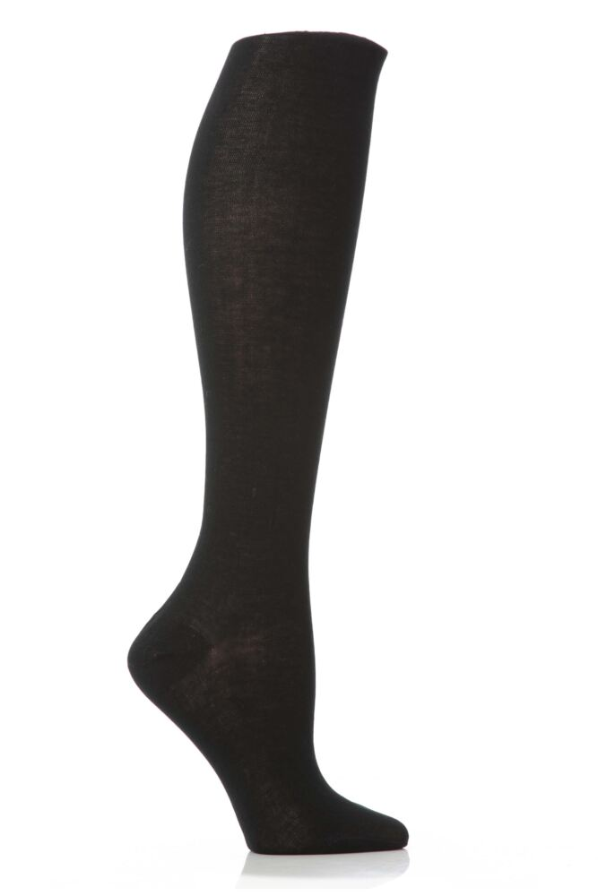 Ladies 1 Pair Elle Pearl Cotton Knee Highs