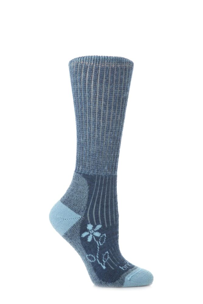 Ladies 1 Pair Bridgedale New Comfort Trekker Sock For All Season Hiking