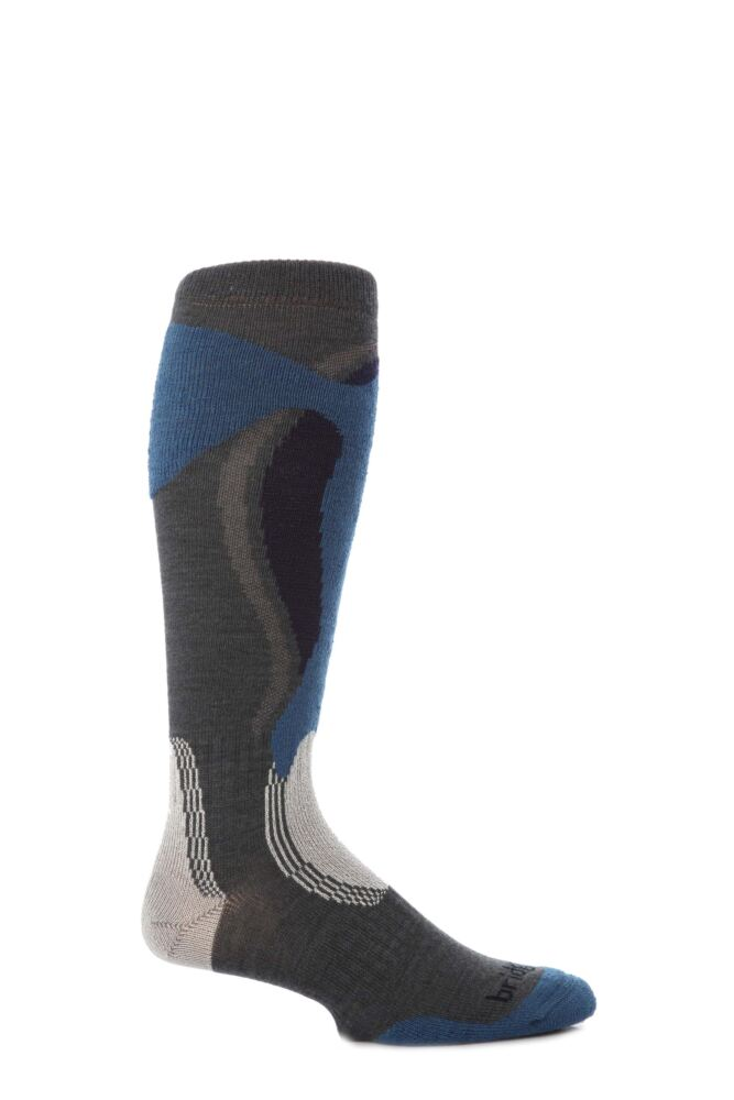 Mens 1 Pair Bridgedale Midweight Control Fit Winter Sports Sock