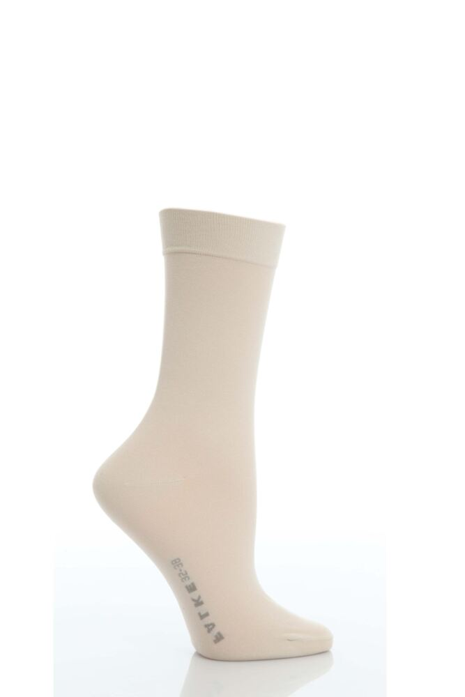 Ladies 1 Pair Falke Cotton Touch Anklet Socks