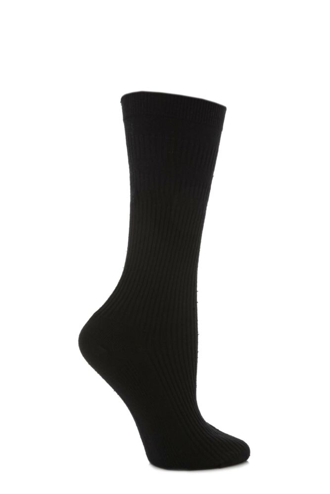 Ladies 1 Pair HJ Hall Original Cotton Softop Socks