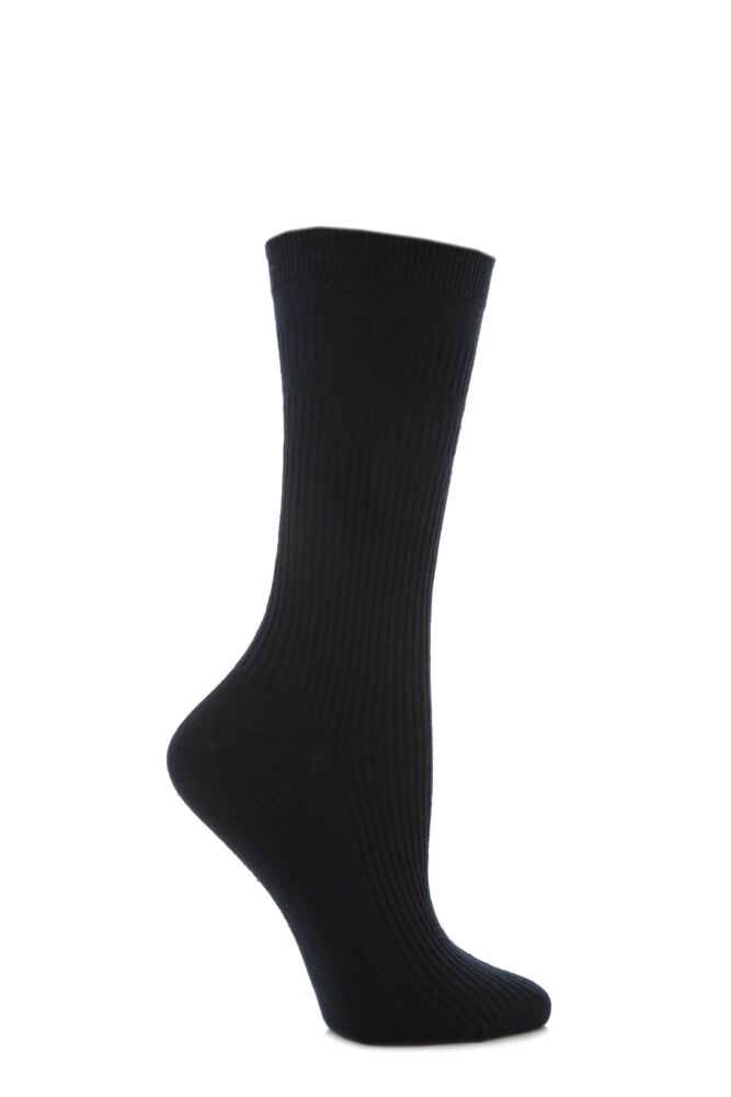 Ladies 1 Pair HJ Hall Original Cotton Softop Socks